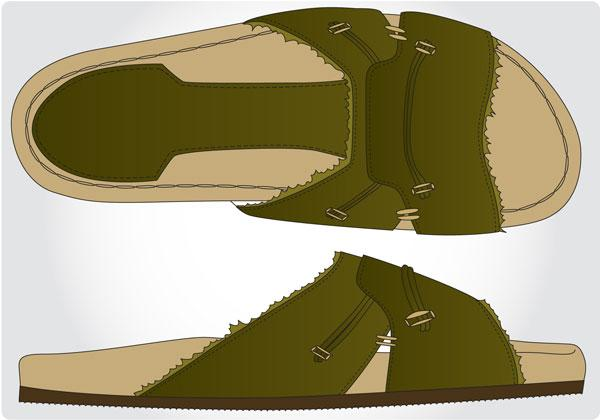 Image of mens beach shoe design