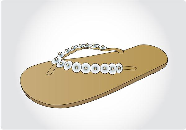 Image of womens flip flop design