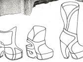 Image of a footwear sketch for Shelleys