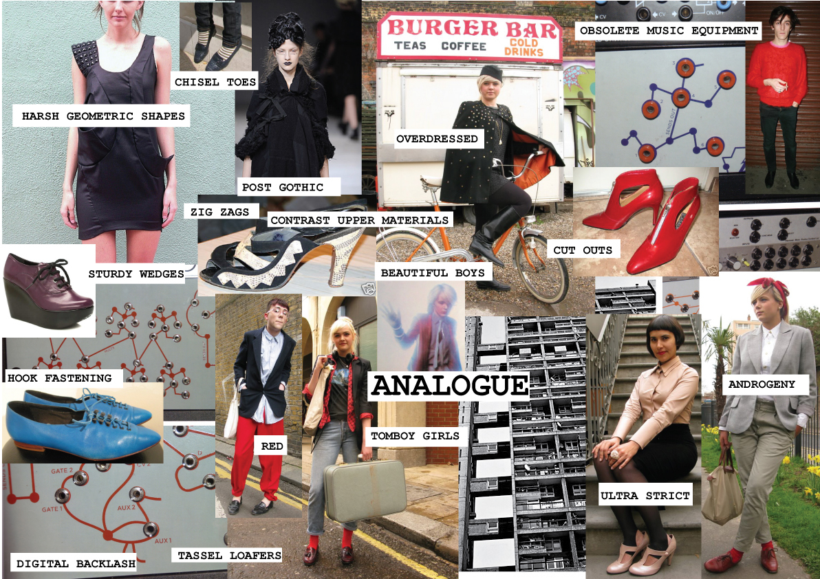 Footwear Designer Shoe Designer Uk Analogue Mood Board For Underground Shoes Shoedesign Co Uk